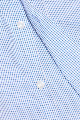 Finely-checked shirt, 100% cotton
