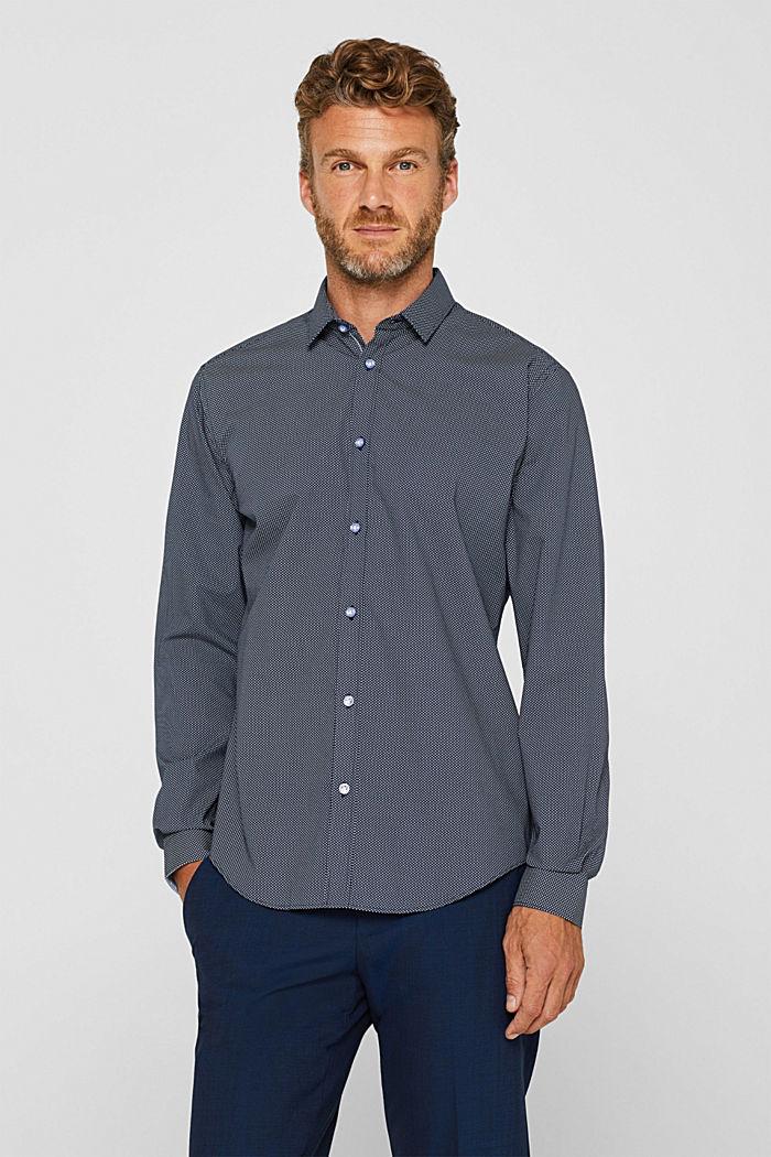 Gemustertes Hemd aus 100% Baumwolle