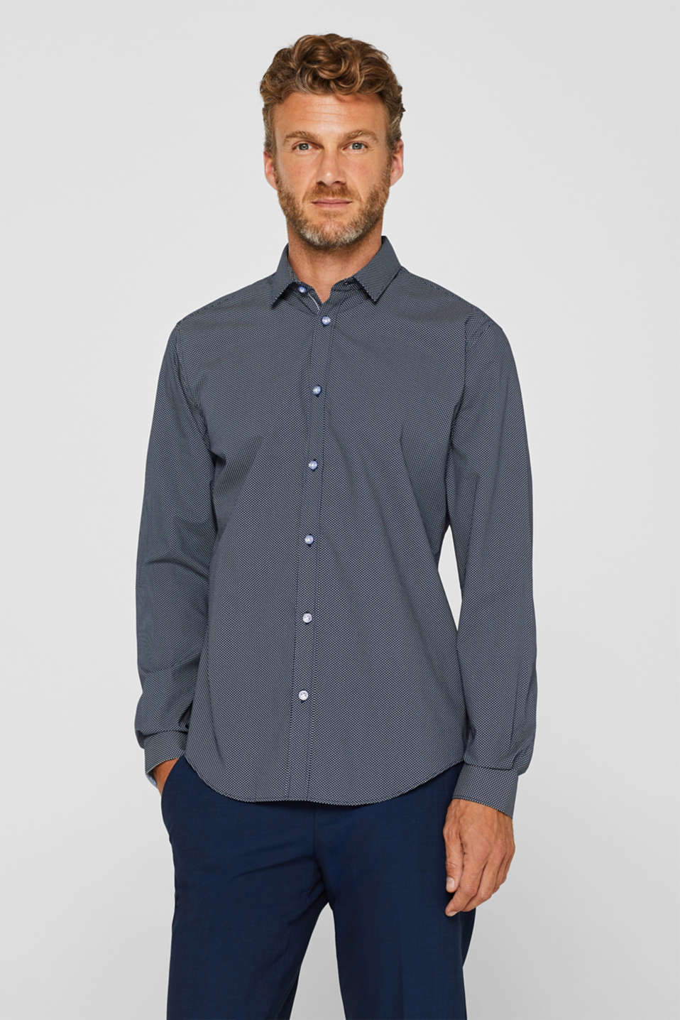 Esprit - Patterned shirt in 100% cotton