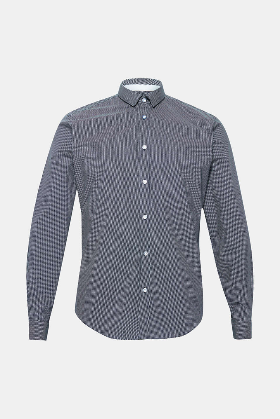 Patterned shirt in 100% cotton, NAVY, detail image number 7
