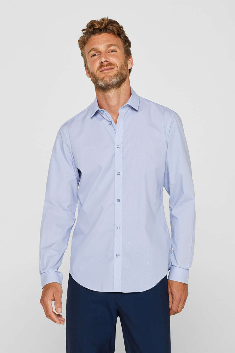 Shirts woven Slim fit, LIGHT BLUE, detail image number 0