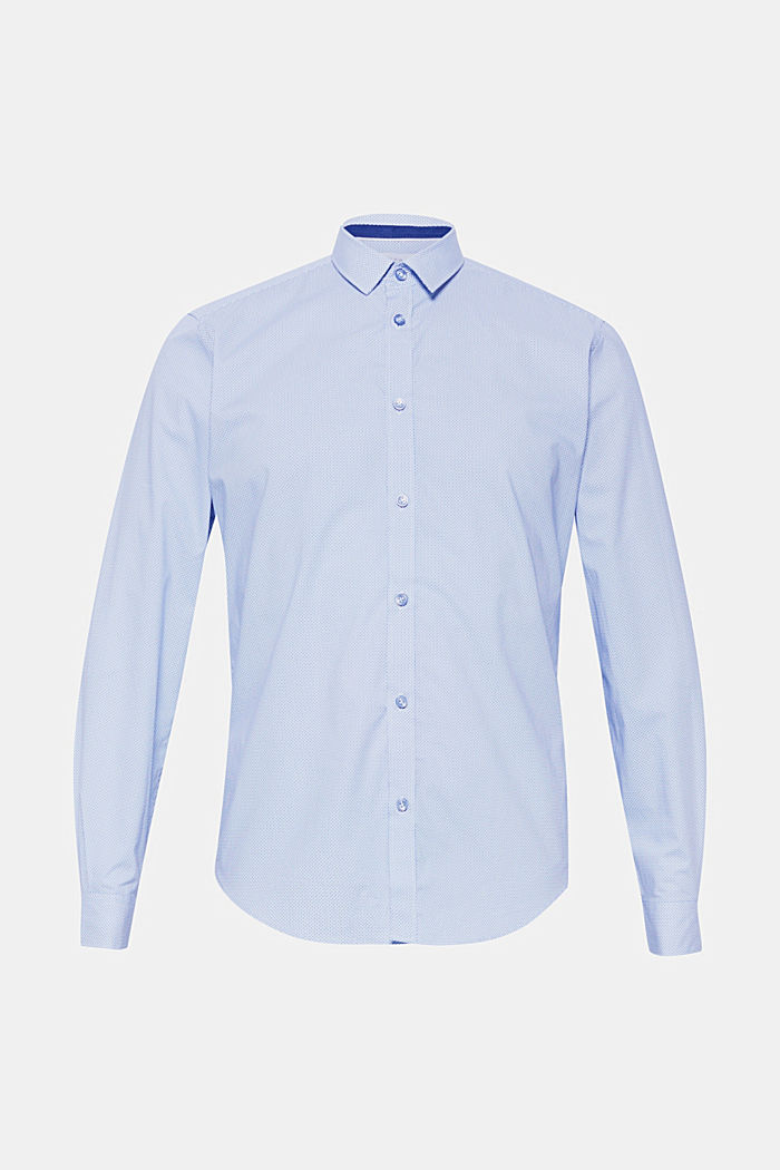 Patterned shirt in 100% cotton, LIGHT BLUE, detail image number 0