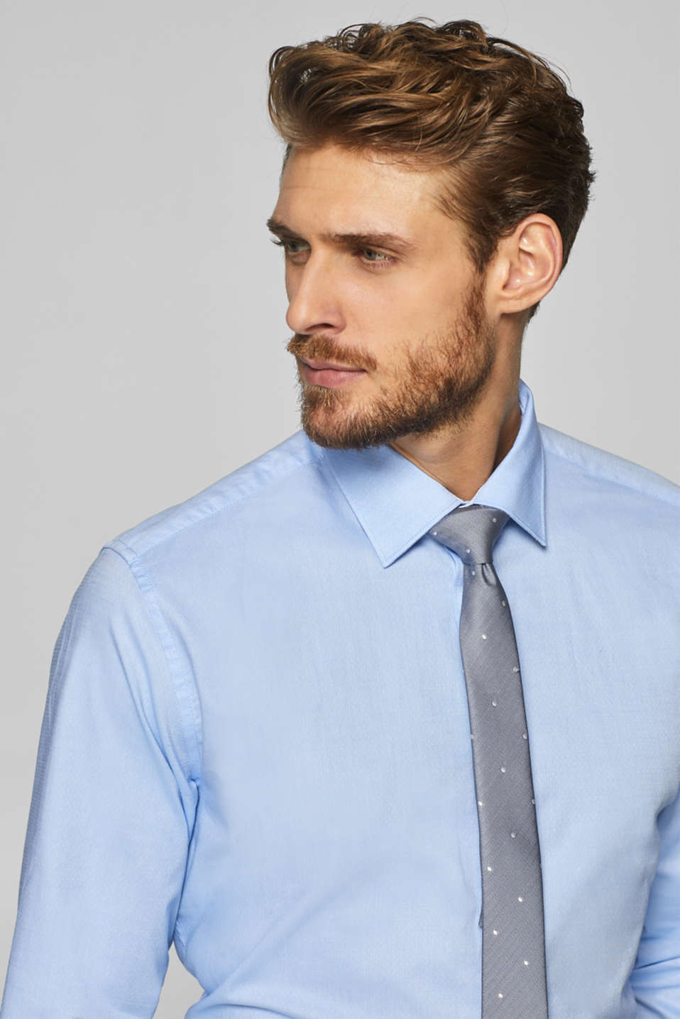 Shirts woven Slim fit, LIGHT BLUE, detail image number 7