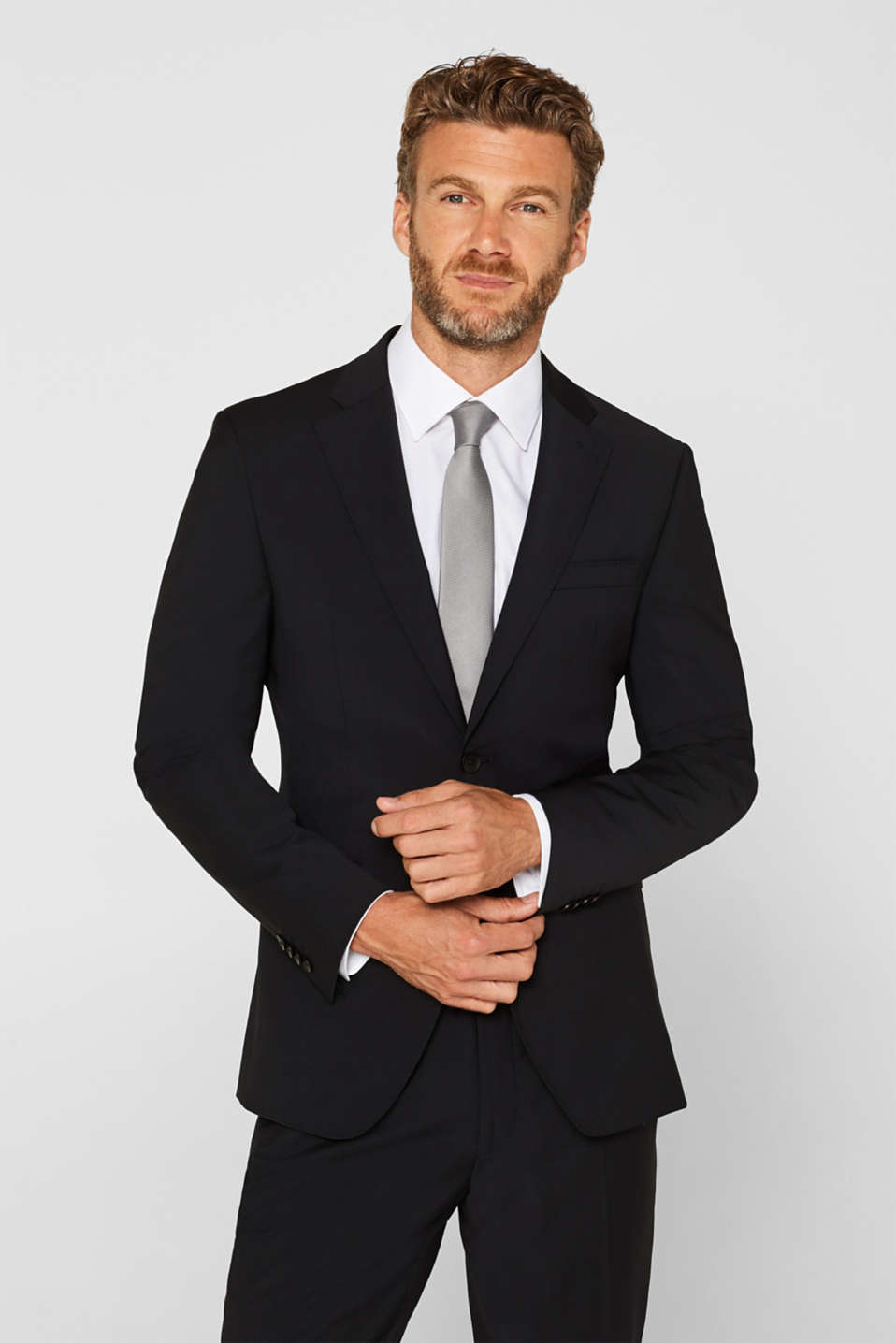 Esprit - ACTIVE SUIT tailored jacket, wool blend