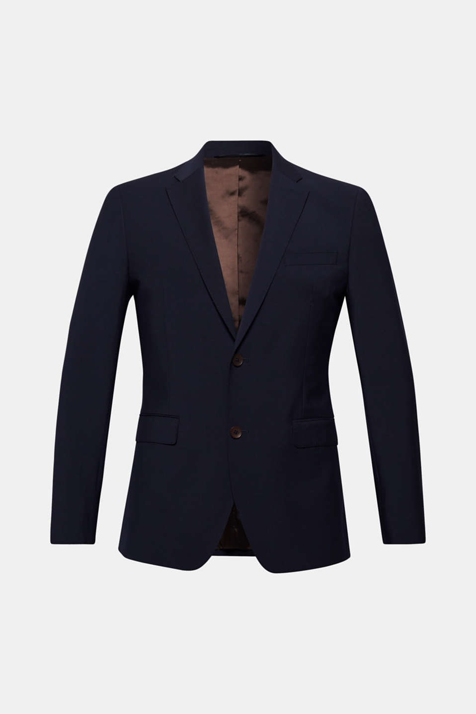 Active Suit: totally unrestricted movement and shape retention thanks to the bi-elastic wool blend!