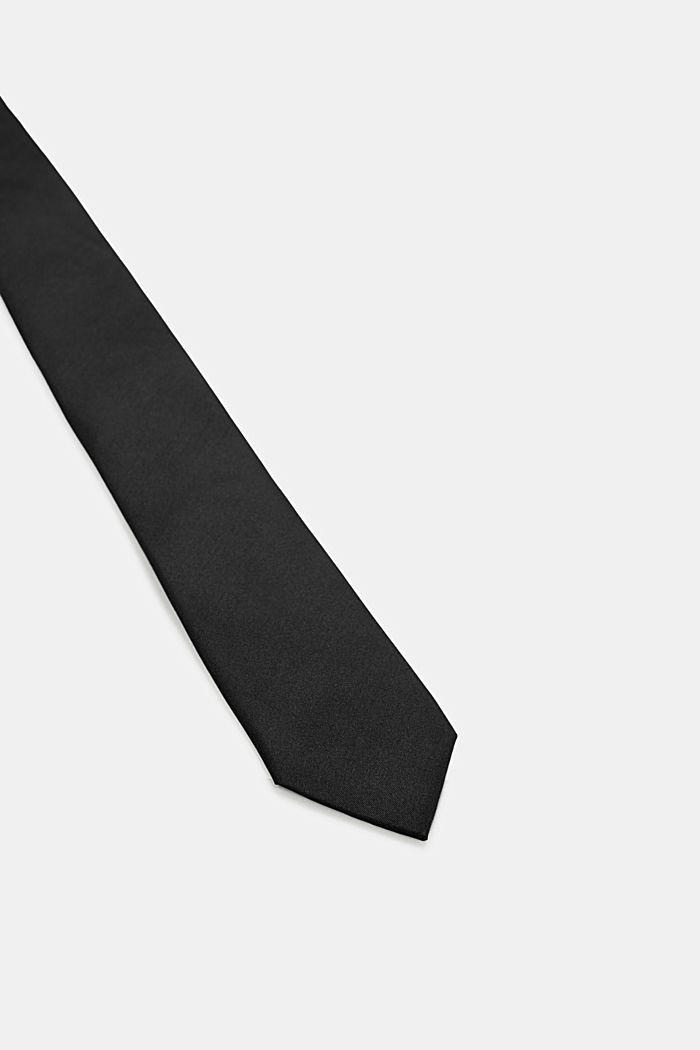 Krawatte aus 100% Seide, BLACK, detail image number 1