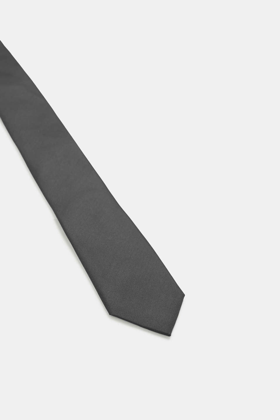Tie in 100% silk, DARK GREY, detail image number 2