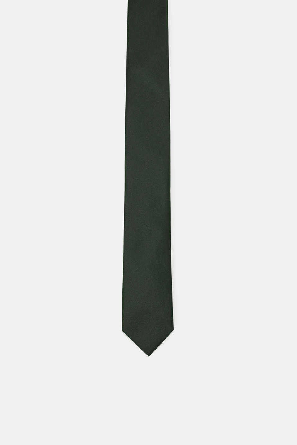 Tie in 100% silk, DARK GREEN, detail image number 0