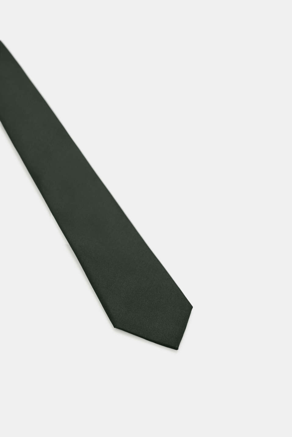 Tie in 100% silk, DARK GREEN, detail image number 2