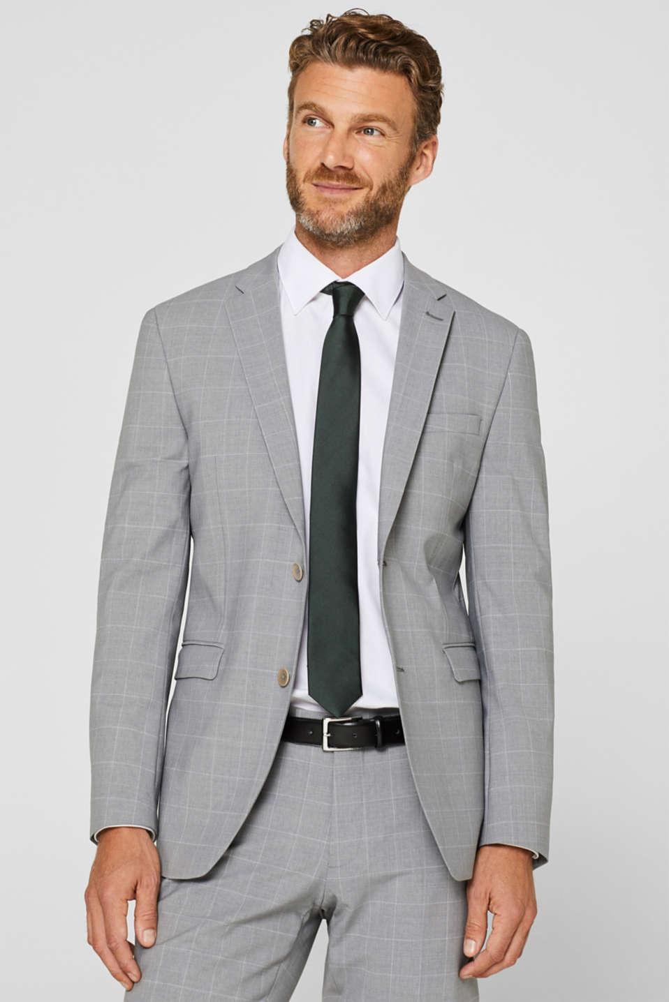 Tie in 100% silk, DARK GREEN, detail image number 1