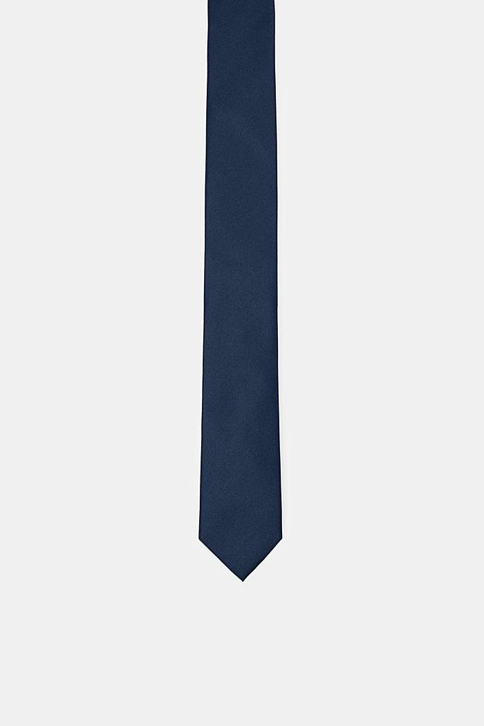 Tie in 100% silk, NAVY, detail image number 0
