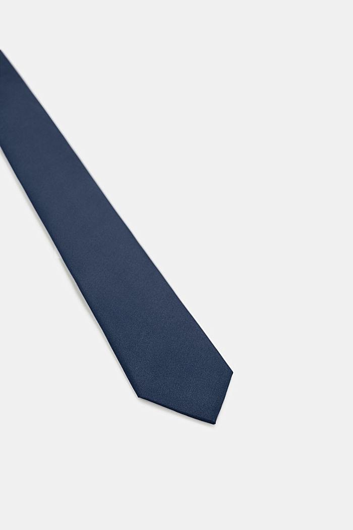 Tie in 100% silk, NAVY, detail image number 1