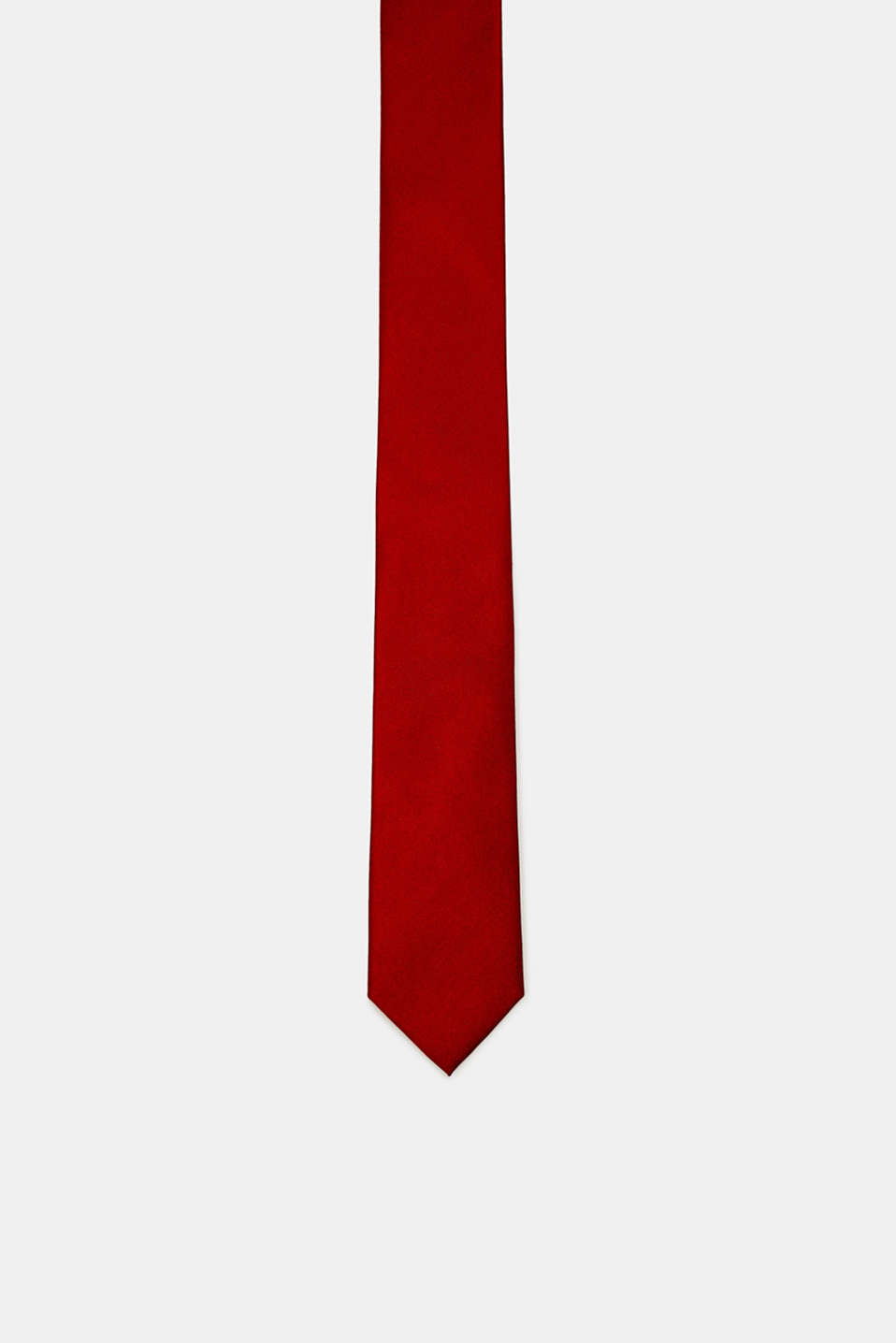 Tie in 100% silk, RED, detail image number 0