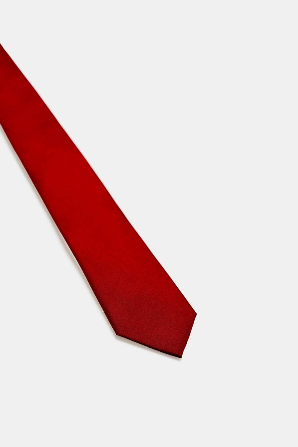 Tie in 100% silk, RED, detail image number 1