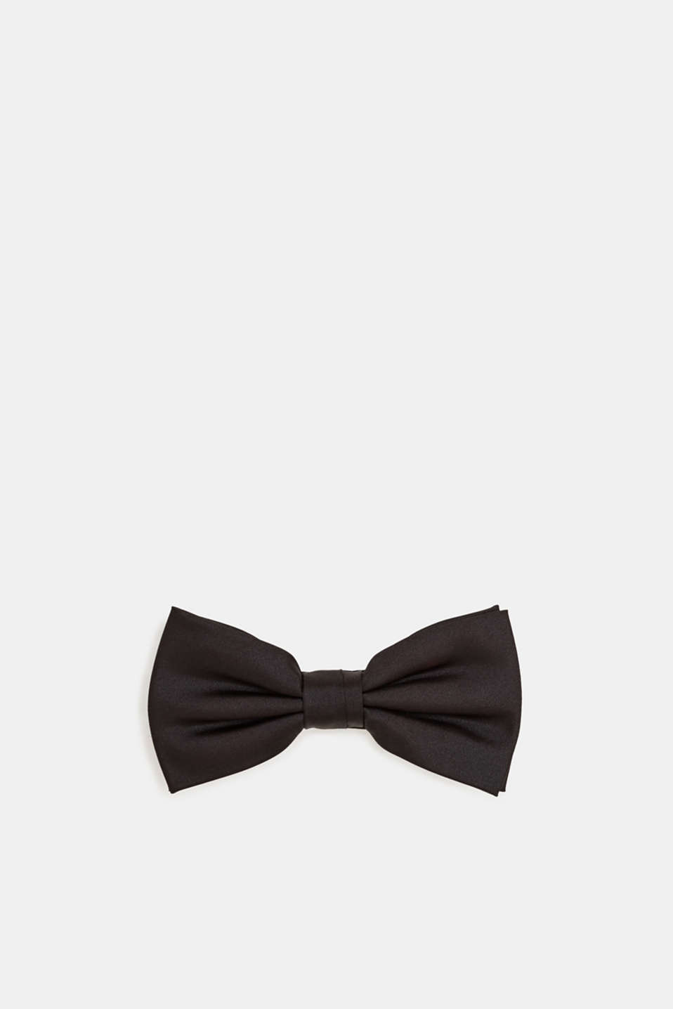 Bow tie made of 100% silk, BLACK, detail image number 0