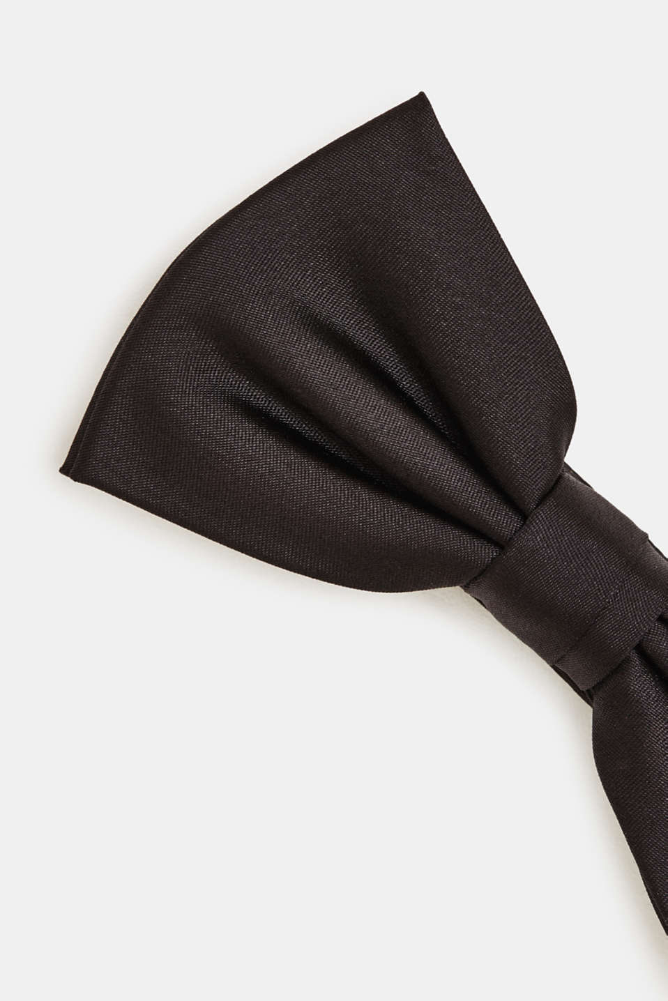 Bow tie made of 100% silk, BLACK, detail image number 2