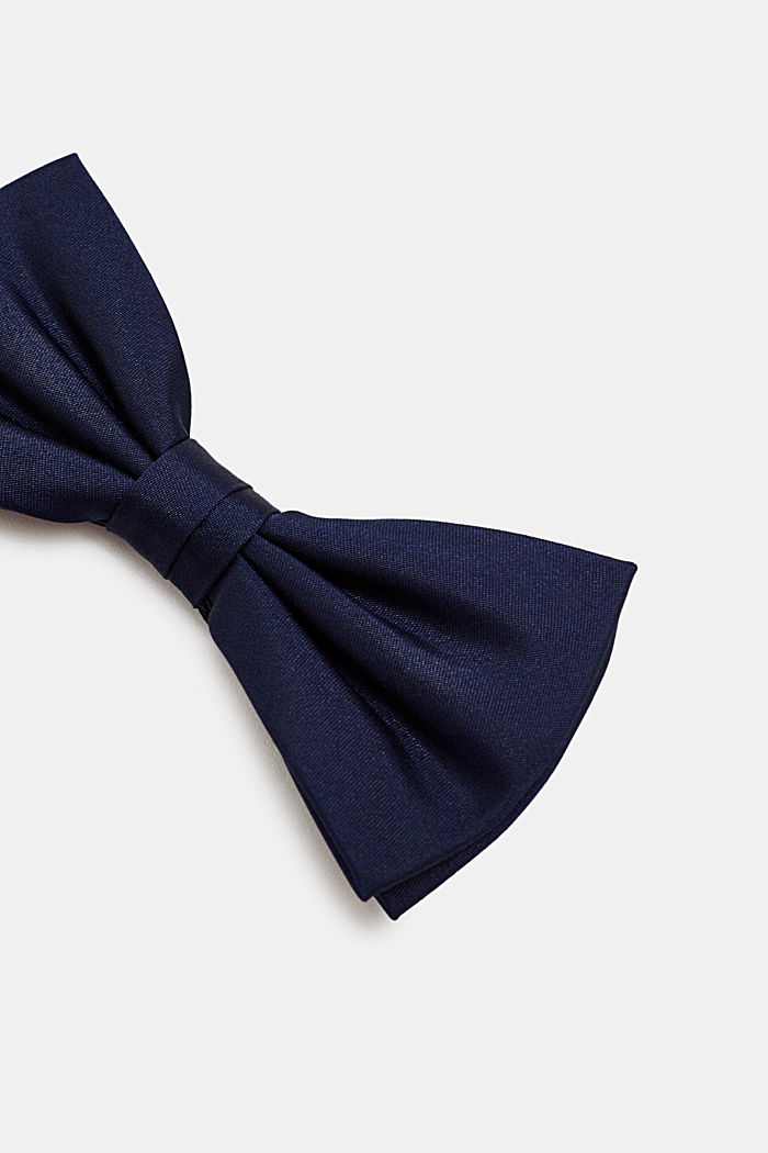 Bow tie made of 100% silk, NAVY, detail image number 2