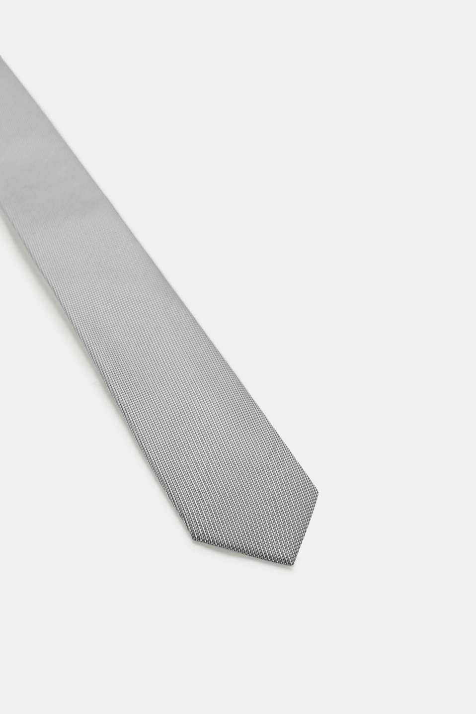 Tie with a bi-colour texture, DARK GREY, detail image number 2