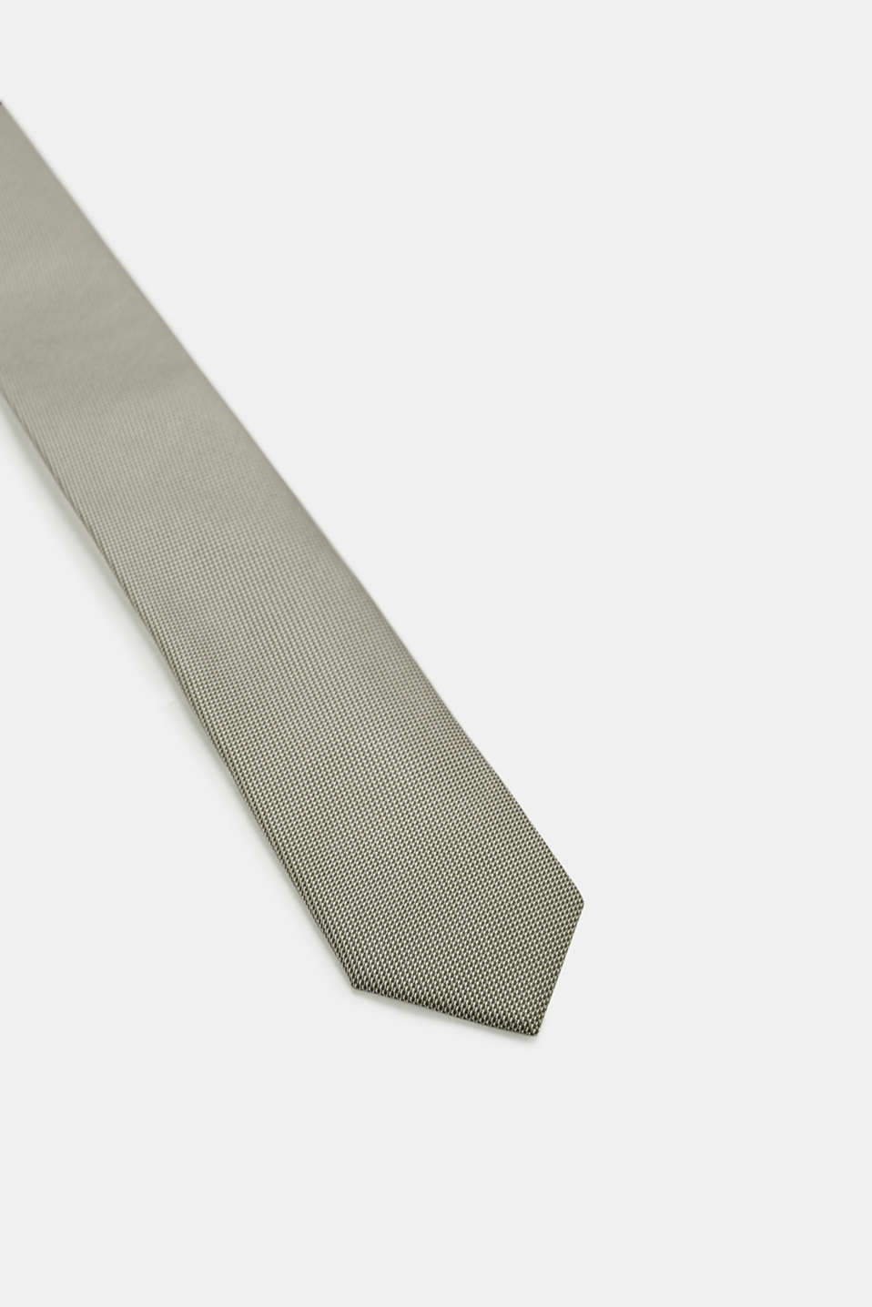 Tie with a bi-colour texture, DARK GREEN, detail image number 2