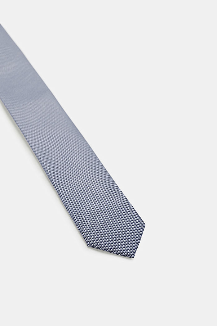 Tie with a bi-colour texture, NAVY, detail image number 1