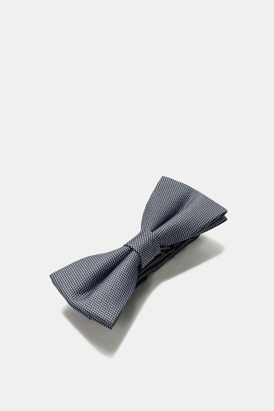 Bow tie with a bi-colour texture, NAVY, detail image number 2