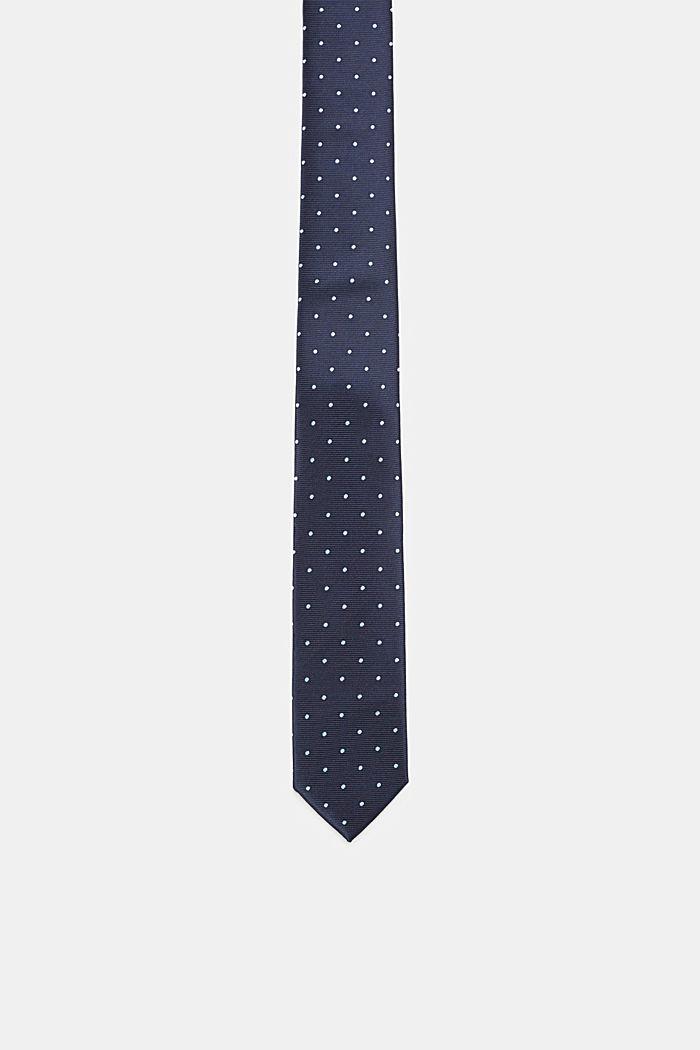 Polka dot tie, NAVY, detail image number 0