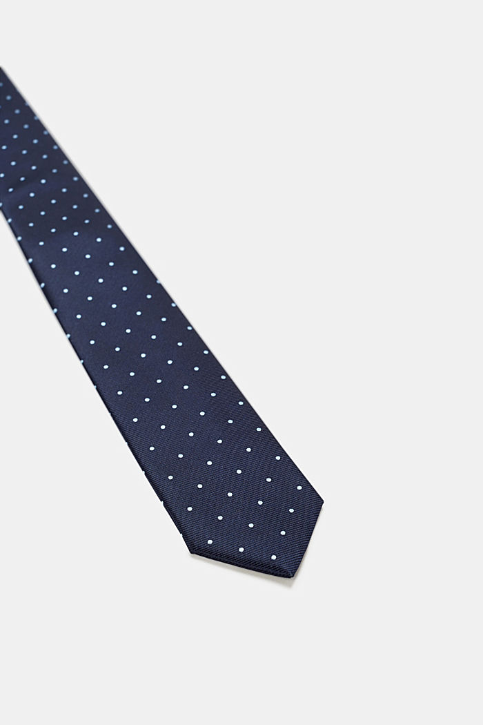 Polka dot tie, NAVY, detail image number 1