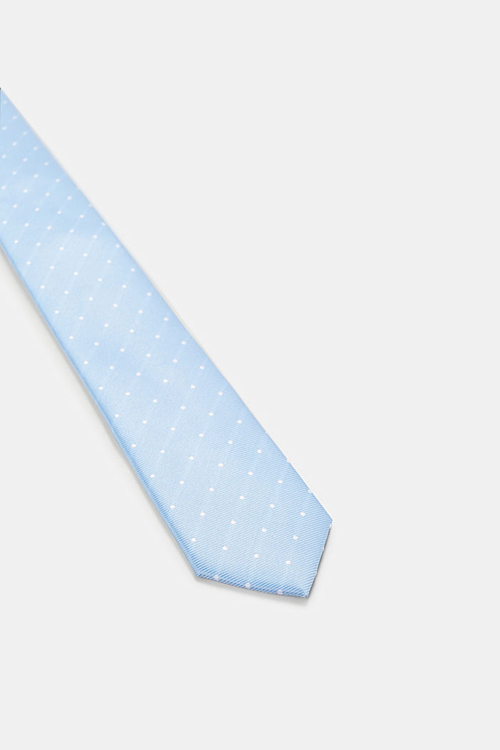 Corbata con diseño de lunares, LIGHT BLUE, detail image number 1