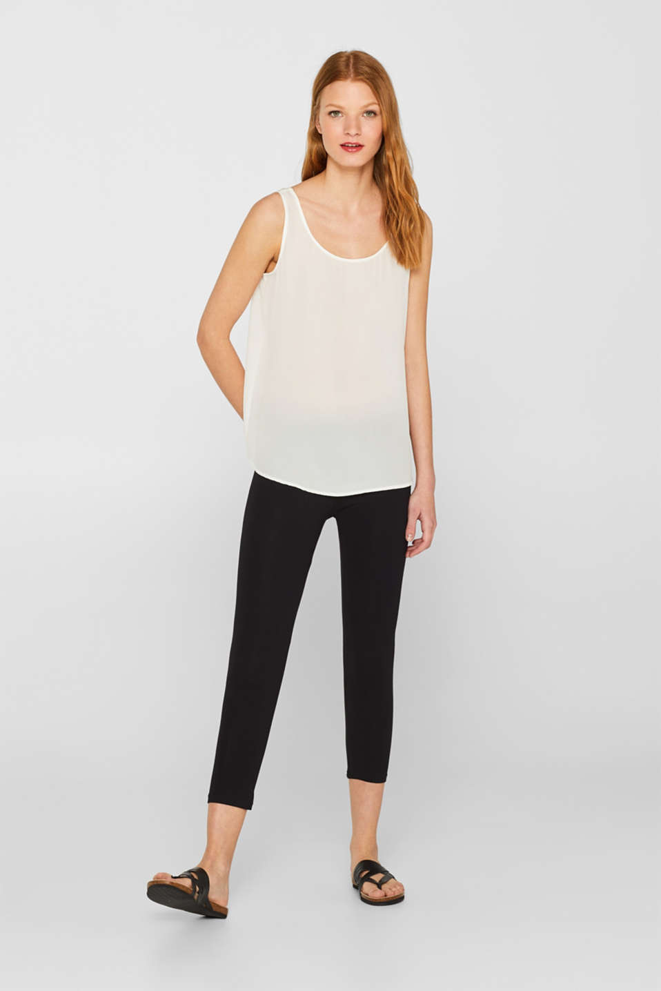 edc - Opaque capri leggings with organic cotton