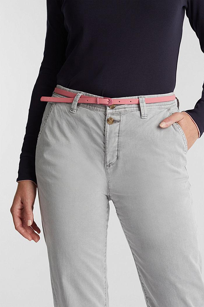 Pantaloni chino stretch con cintura e bottoni, GREY, detail image number 5