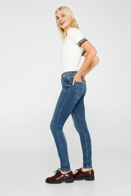 Stretch jeggings containing organic cotton, BLUE MEDIUM WASH, detail