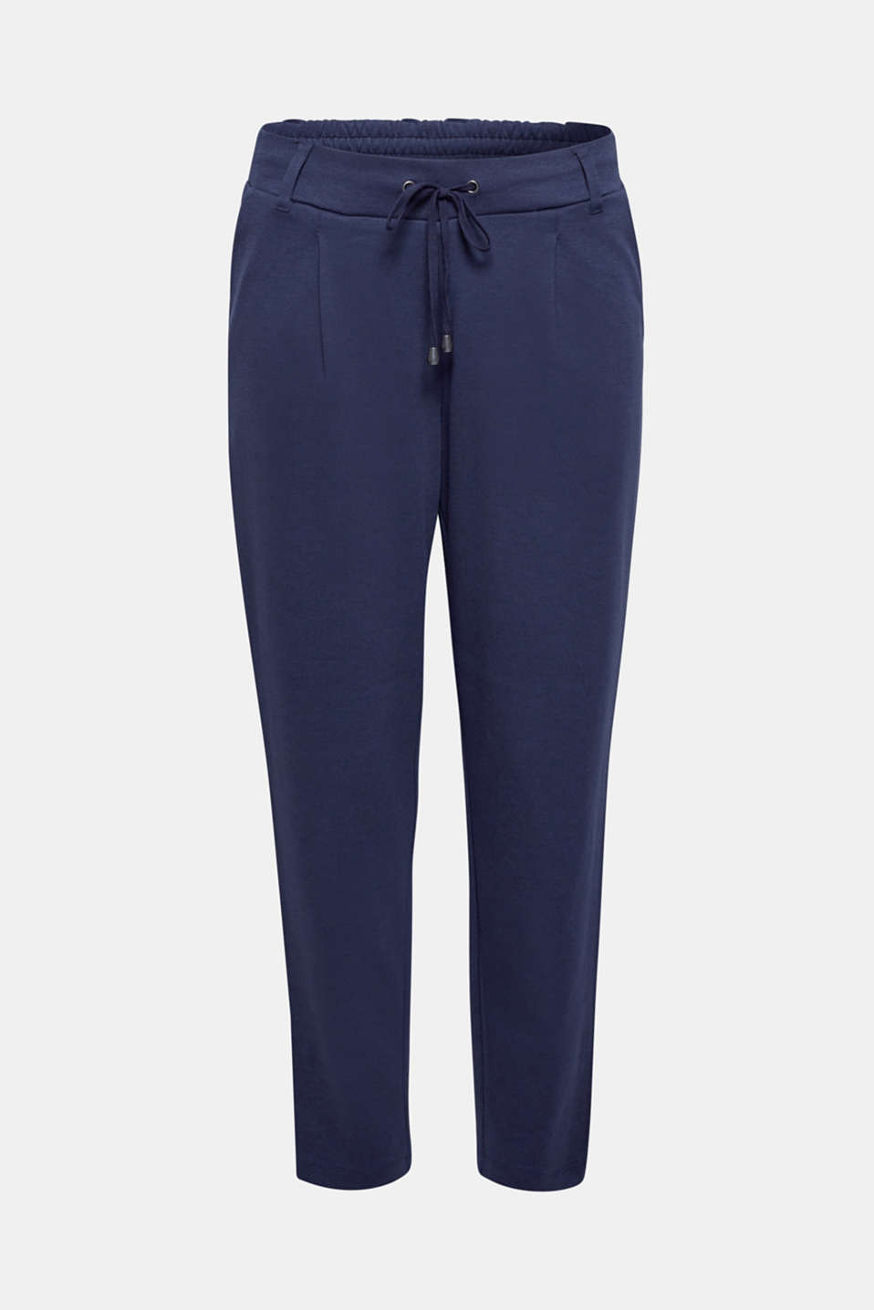 Stretch trousers in a tracksuit bottoms style, NAVY, detail image number 6