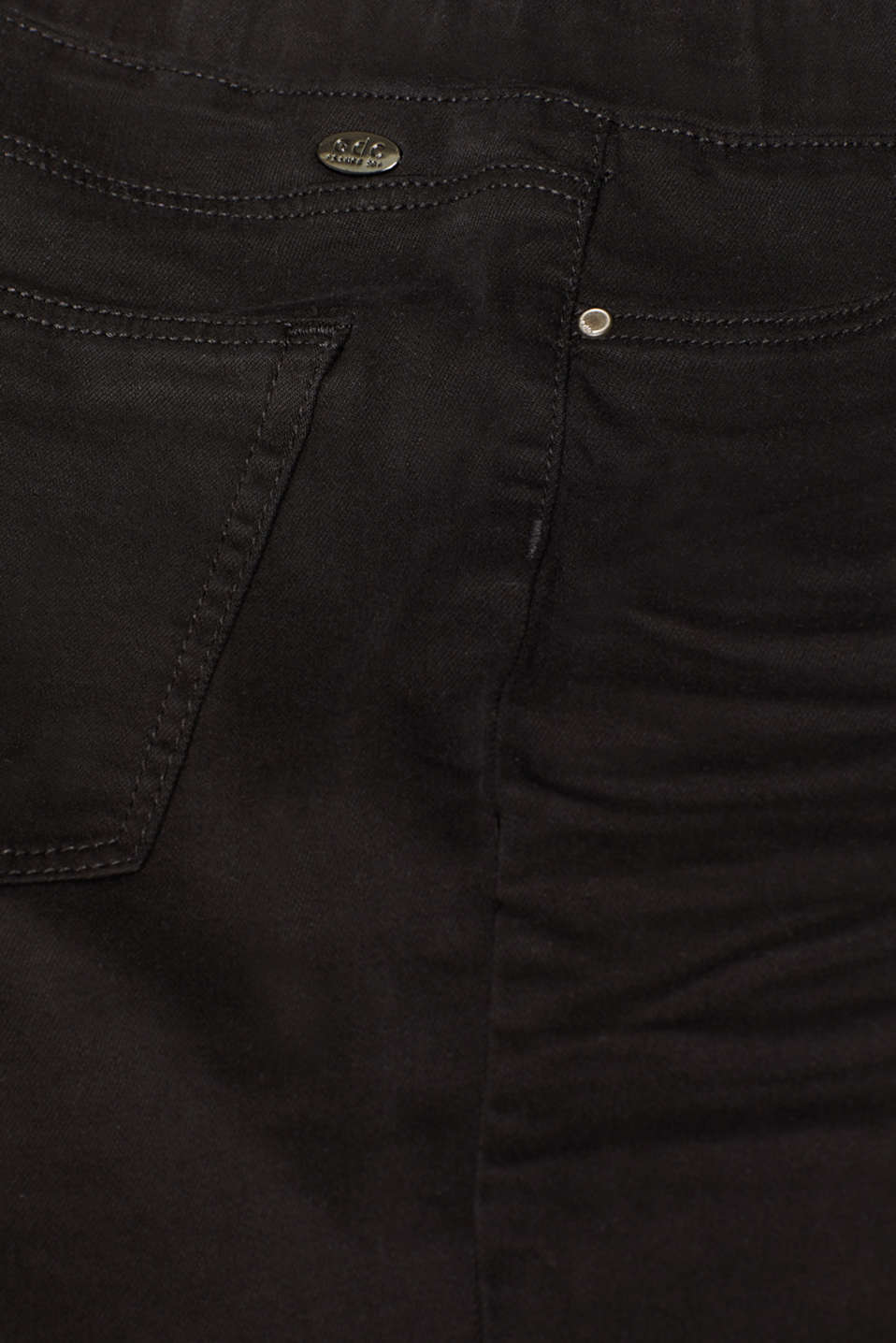 Treggings with an elasticated waistband, BLACK, detail image number 4