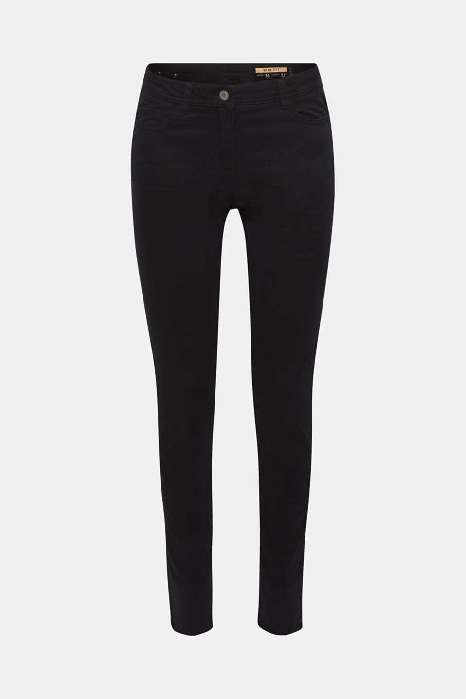 Super stretch trousers with a vintage finish, BLACK, detail image number 7