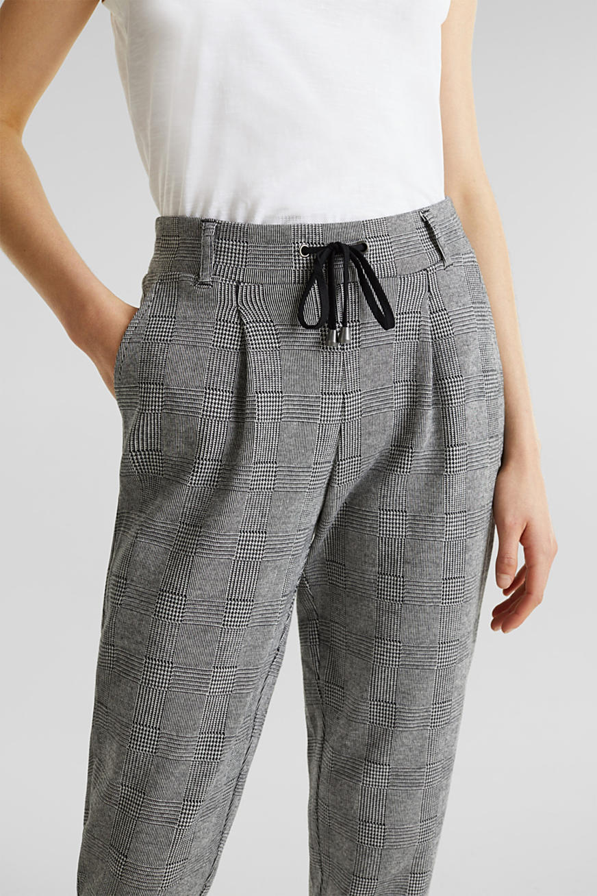 Pantalon de jogging à carreaux prince de galles
