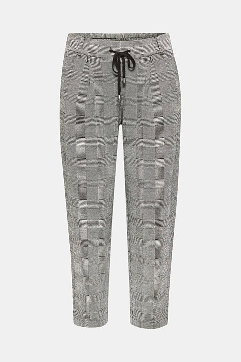 Prince of Wales check trousers in a tracksuit bottoms style