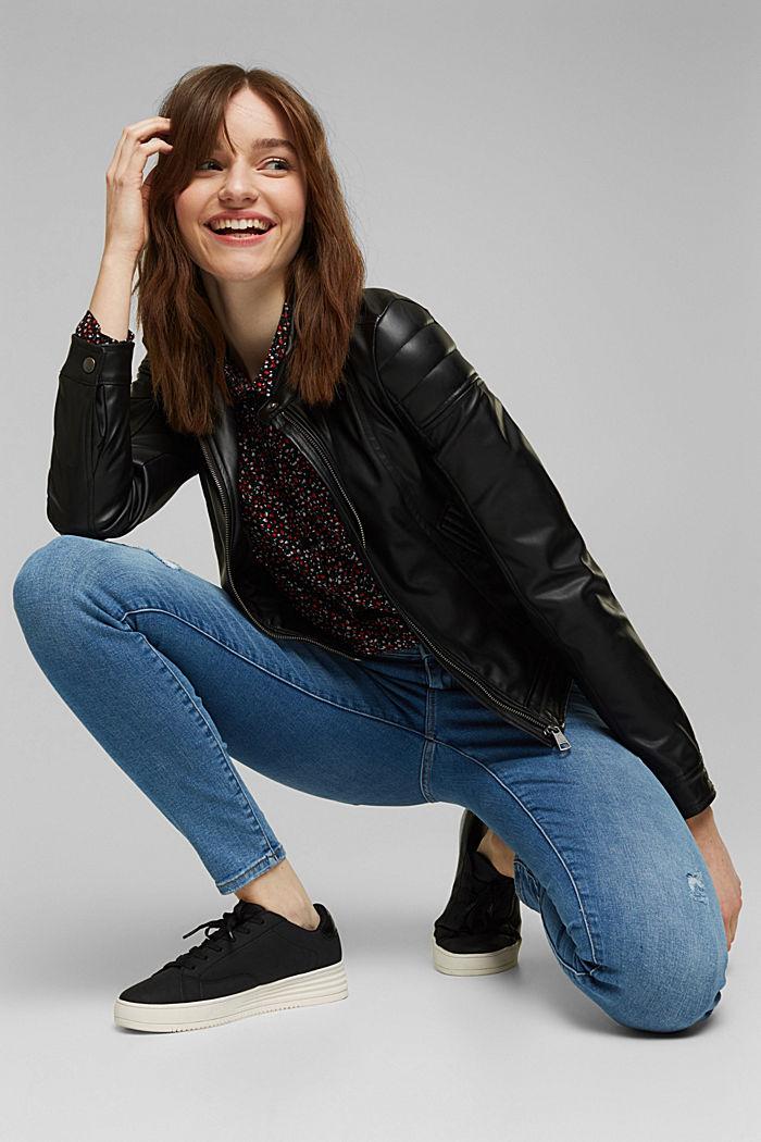 Stretch-Jeans mit Used-Effekten, BLUE LIGHT WASHED, detail image number 5