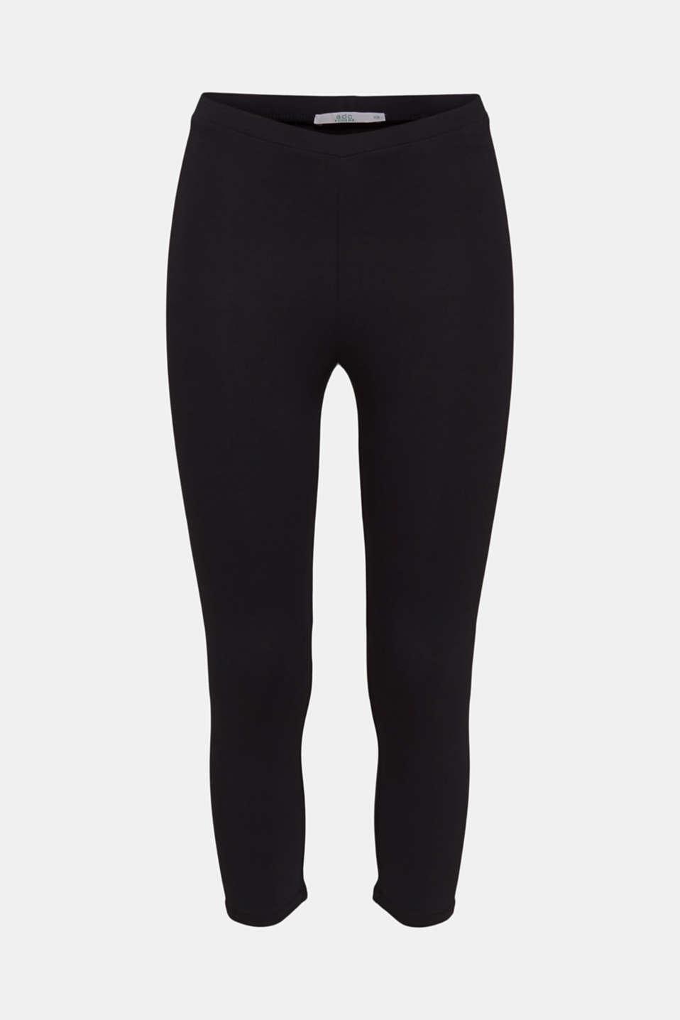 Capri leggings with stretch, BLACK, detail image number 6