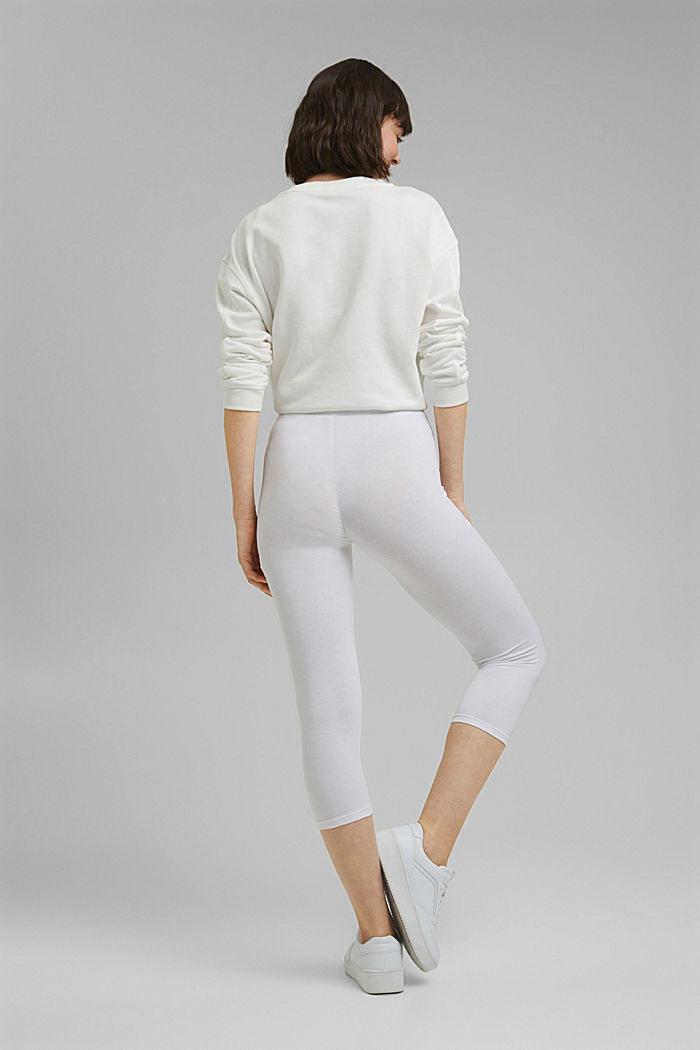 Capri leggings with stretch, WHITE, detail image number 3