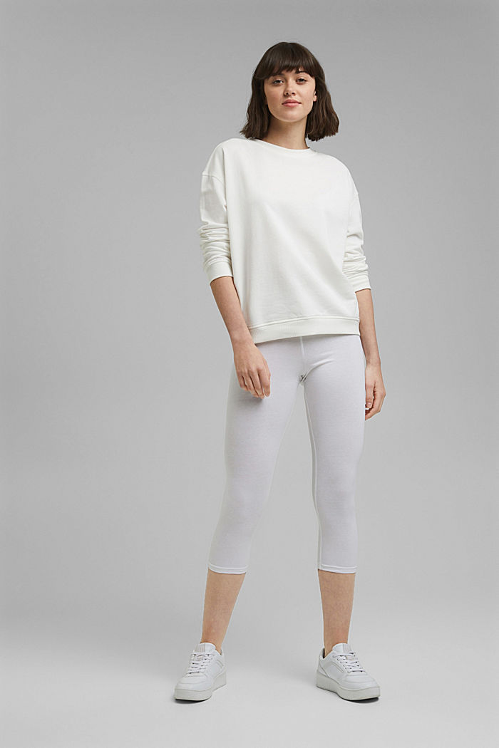 Capri leggings with stretch, WHITE, detail image number 1