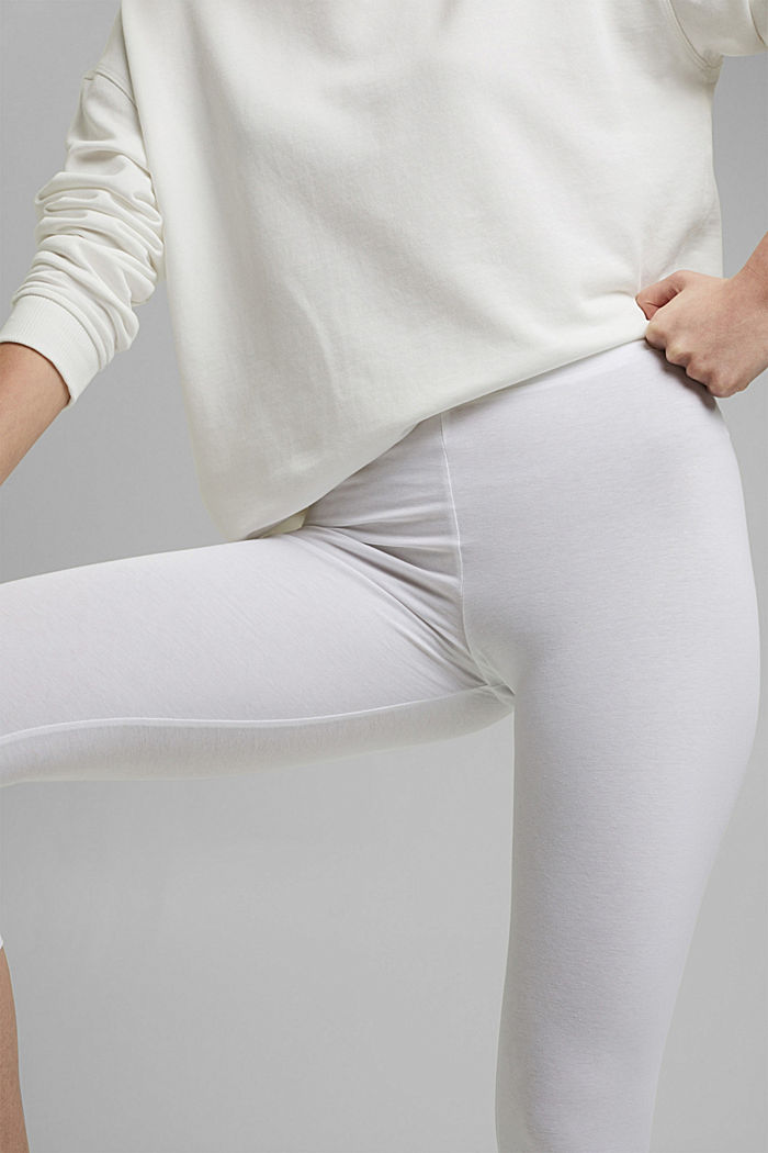 Capri leggings with stretch, WHITE, detail image number 2