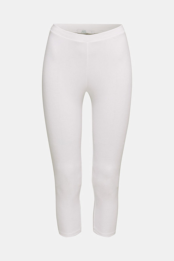 Capri leggings with stretch, WHITE, detail image number 6