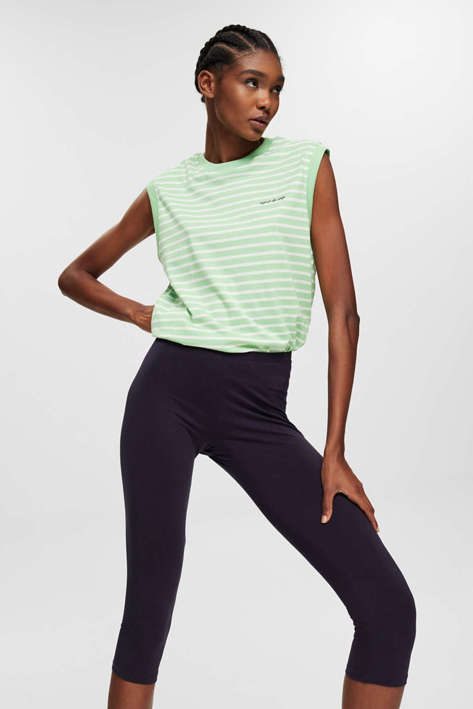 edc - Stretch cotton Capri leggings
