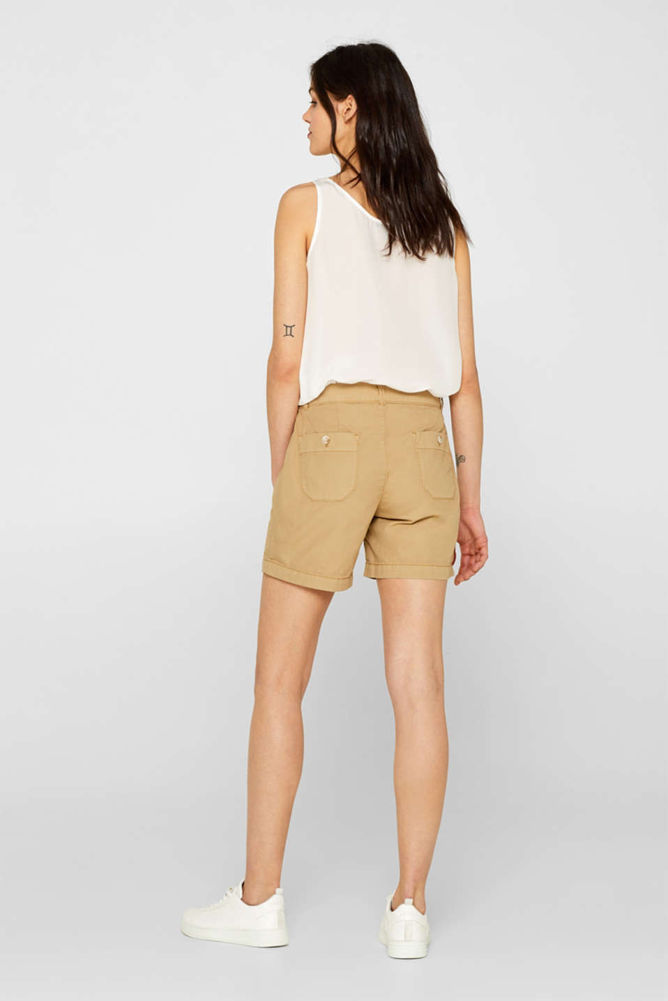 Shorts woven, KHAKI BEIGE, detail image number 3