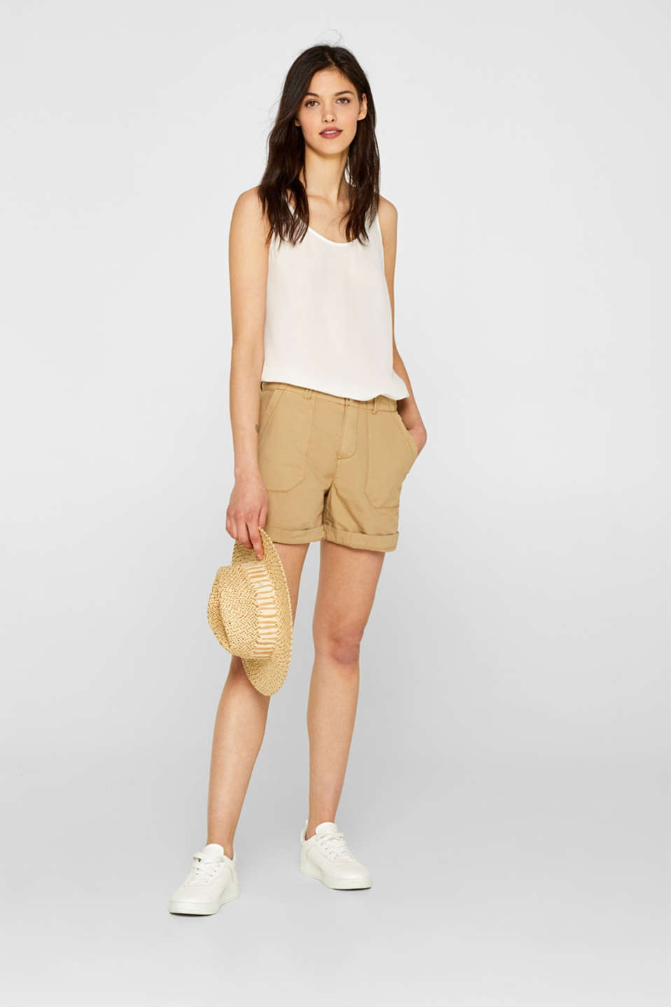 Shorts woven, KHAKI BEIGE, detail image number 1