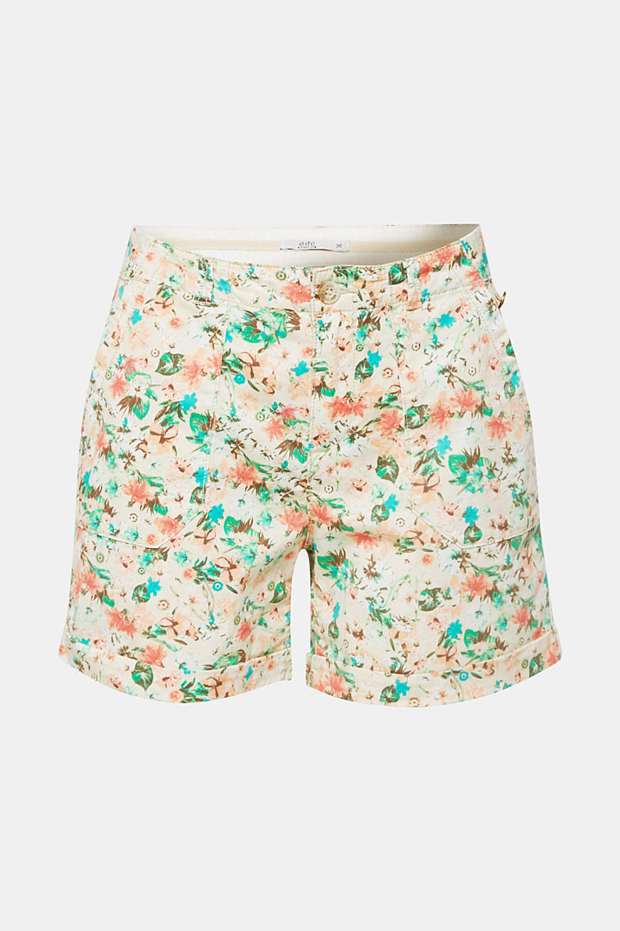 Short à imprimé en coton stretch