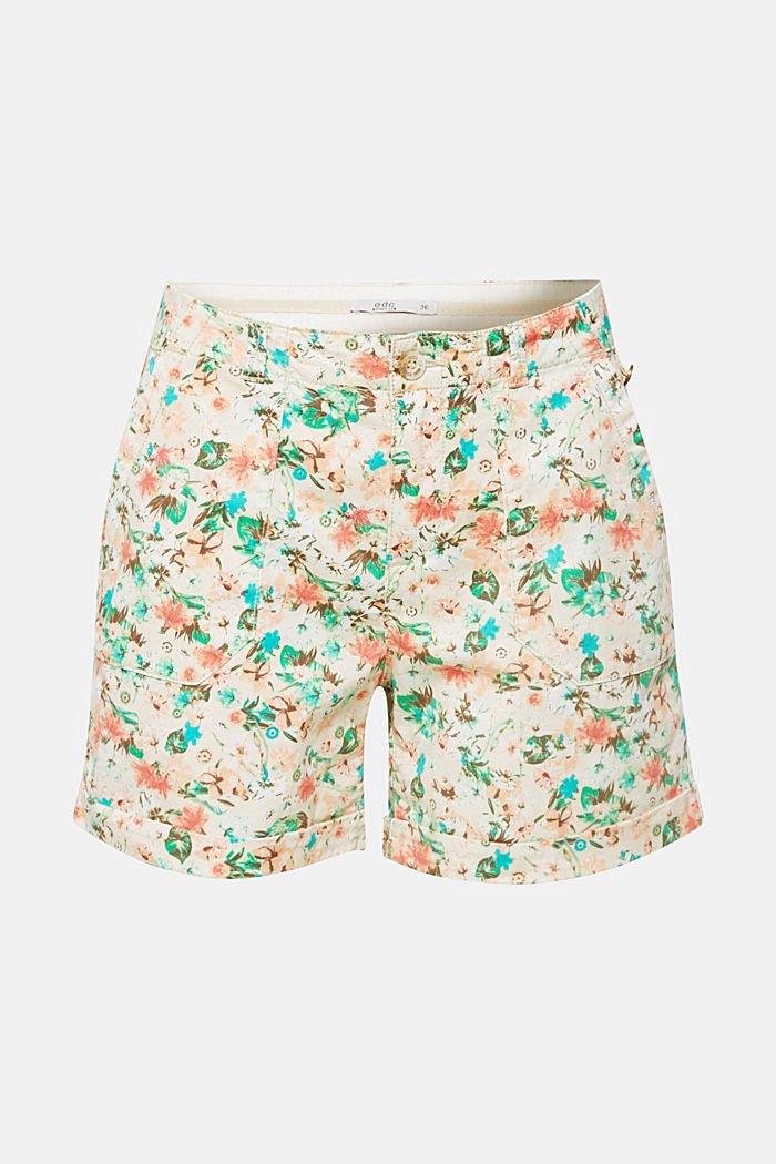 Printed stretch cotton shorts