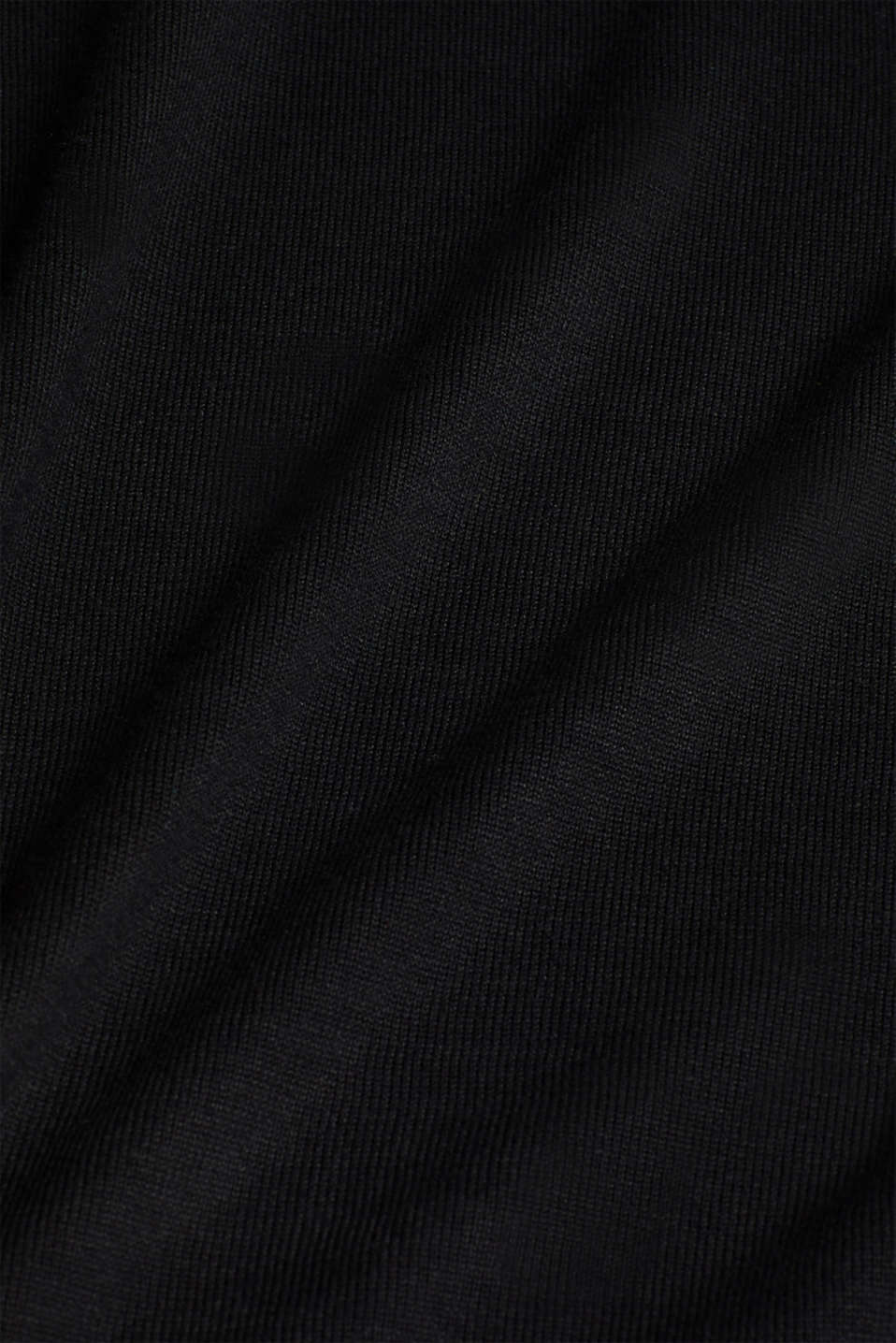 Knitted dress in a basic look, BLACK, detail image number 4