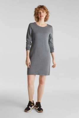 Knitted dress in a basic look, GUNMETAL 5, detail