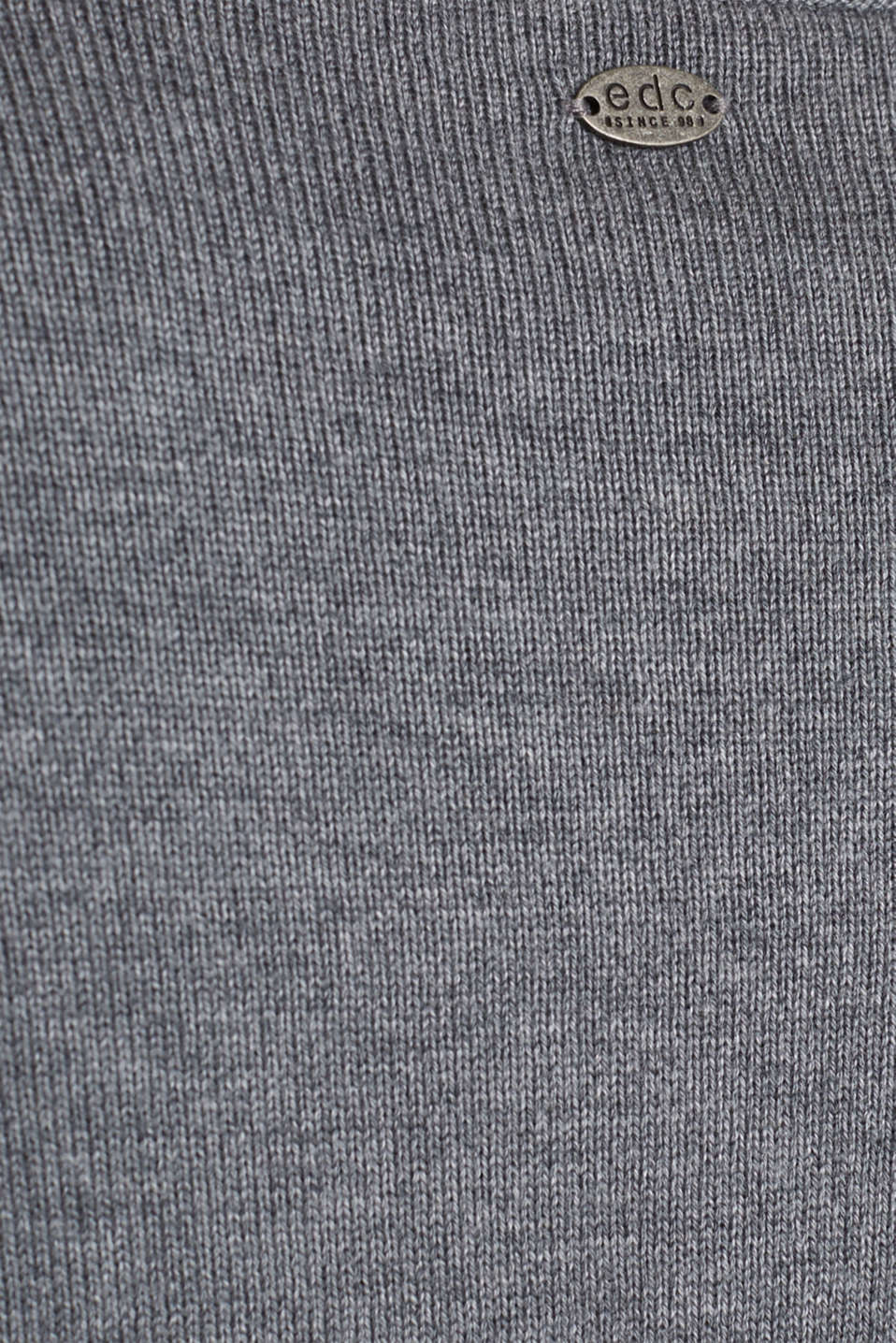 Knitted dress in a basic look, GUNMETAL 5, detail image number 3